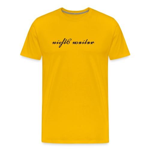 Was steht da? Male - Männer Premium T-Shirt