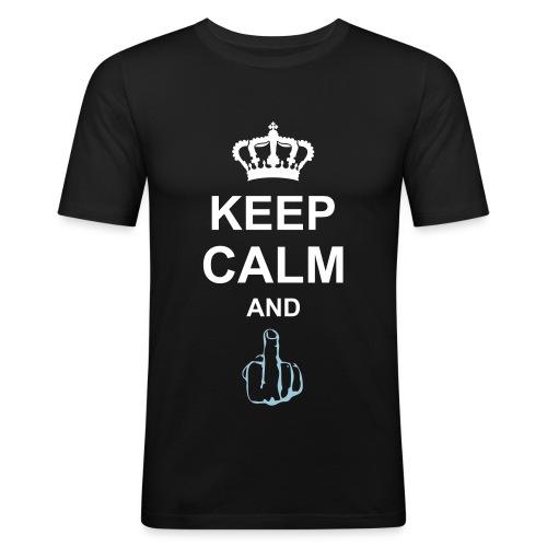 Keep Calm and F**k - Maglietta aderente da uomo