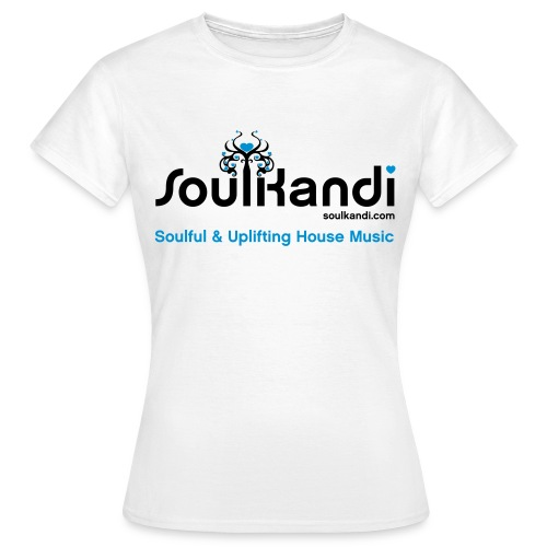Womens Top with Black & Blue Soul Kandi Tree Logo (Choice Of Colours) - Women's T-Shirt