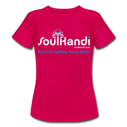 Womens Top with White & Blue Soul Kandi Tree Logo (Choice Of Colours) - Women's T-Shirt