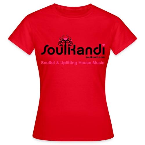 Womens Top with Black & Pink Soul Kandi Tree Logo (Choice Of Colours) - Women's T-Shirt