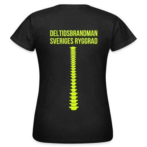 Sveriges ryggrad - Neongult tryck (Dam) - T-shirt dam