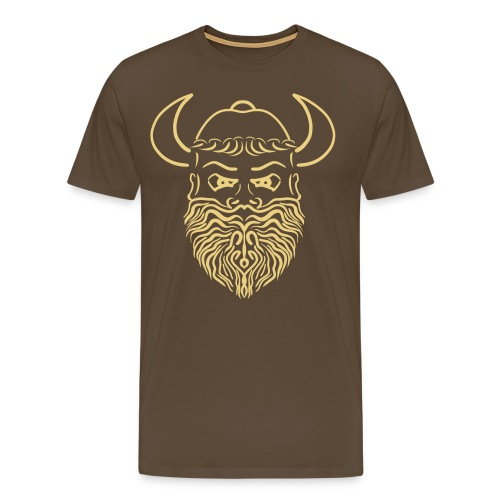 Viking head - Mannen Premium T-shirt