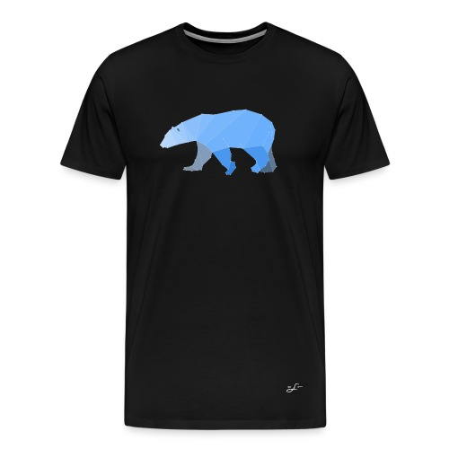 Origami Polarbear - Männer Premium T-Shirt