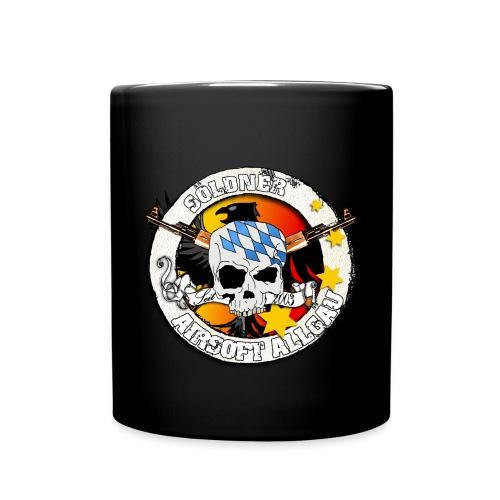 Tasse black, buntes Söldner Logo - Tasse einfarbig