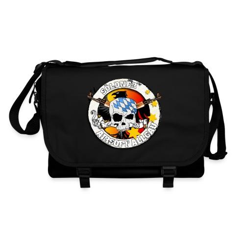 Umhängetasche, schwarz mit Söldner-Logo in Bunt - Umhängetasche