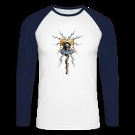 Langarmshirts ~ Männer Baseballshirt langarm ~ Warhammer Age of Sigmar Hammer & Lightning 2  - Long Sleeve Baseball Shirt