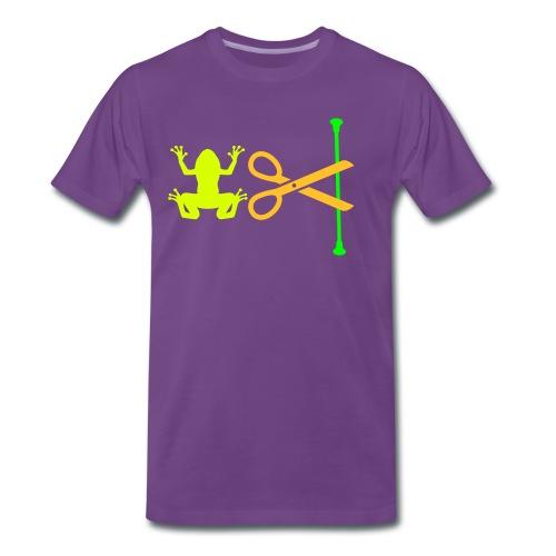 grenouille ciseau baton - T-shirt Premium Homme