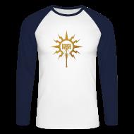 Langarmshirts ~ Männer Baseballshirt langarm ~ Warhammer Age of Sigmar Hammer Icon - Long Sleeve Baseball Shirt