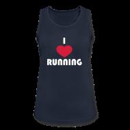 Sportbekleidung ~ Frauen Tank Top atmungsaktiv ~ T-Shirt: I love running