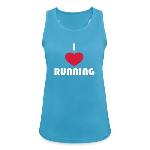 T-Shirt: I love running - Frauen Tank Top atmungsaktiv