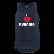 Sportbekleidung ~ Männer Tank Top atmungsaktiv ~ T-Shirt: I love running
