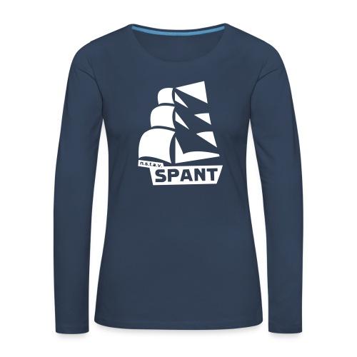 Lange mouwen groot logo - Vrouwen Premium shirt met lange mouwen