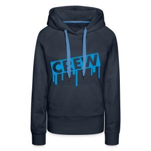 Black hoodie Blue - Vrouwen Premium hoodie