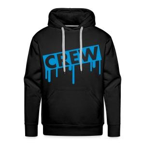 Black hoodie Blue - Mannen Premium hoodie
