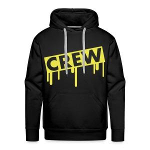 Black hoodie Yellow - Mannen Premium hoodie