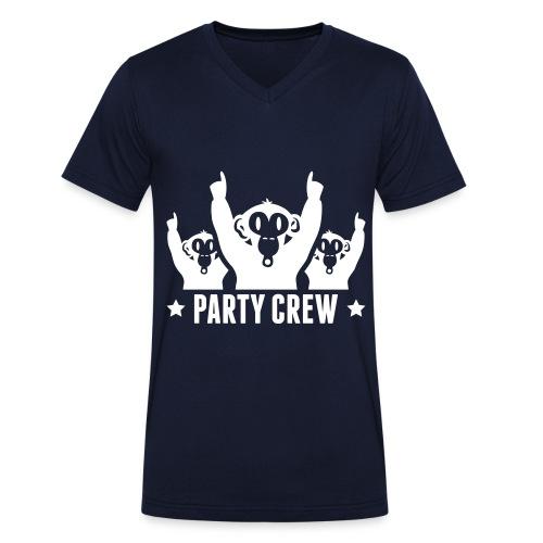 Party Crew - Männer Bio-T-Shirt mit V-Ausschnitt von Stanley & Stella