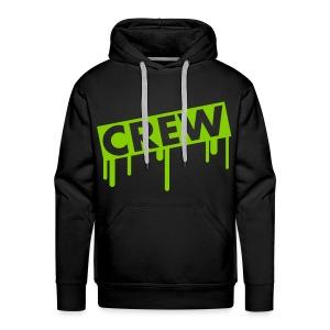 Black hoodie Green - Mannen Premium hoodie