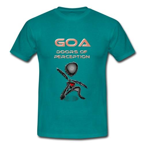 Goa Music - open your doors of perception - Männer T-Shirt