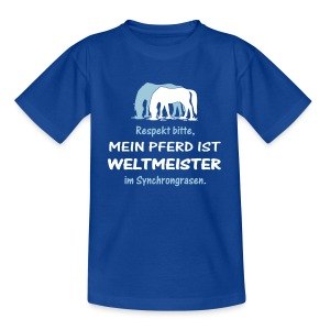 Lustiges Reitershirt Weltmeister - Teenager T-Shirt