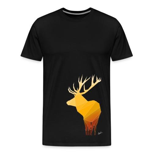 Origami Deer - Männer Premium T-Shirt