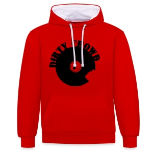 DIRTY CROWD HOODIE blackprint - Kontrastluvtröja