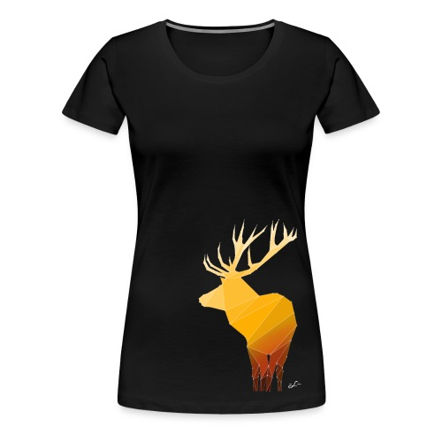 Origami Deer Woman - Frauen Premium T-Shirt