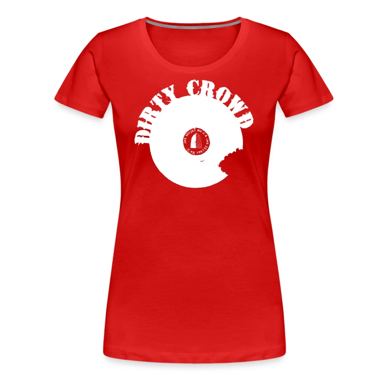 DIRTY CROWD TEE whiteprint - Premium-T-shirt dam