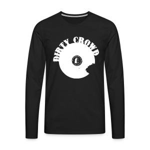 DIRTY CROWD LONGTEE whiteprint - Långärmad premium-T-shirt herr