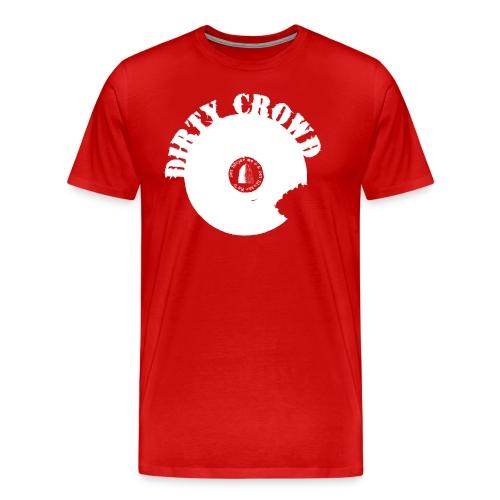 DIRTY CROWD TEE white print - Premium-T-shirt herr