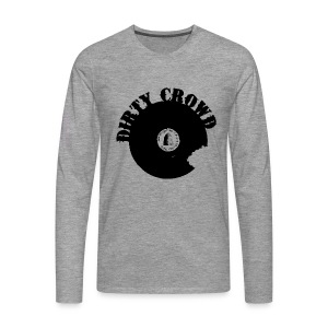 DIRTY CROWD LONGTEE blackprint - Långärmad premium-T-shirt herr