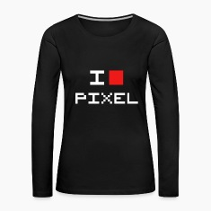 I LOVE PIXEL Long Sleeve Shirts
