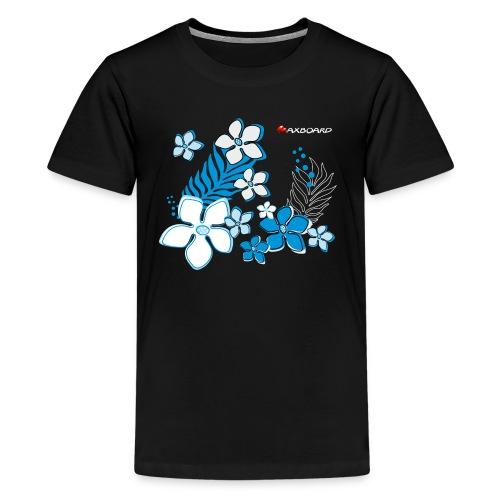 Black Hibiscus - Teenager - T-Shirt - Teenager Premium T-Shirt