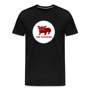 Red Terrier Badge 1969/70 Pixel Art T-shirt - Men's Premium T-Shirt