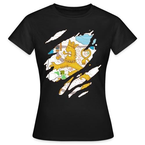 Karttaleijona värillinen - Naisten t-paita