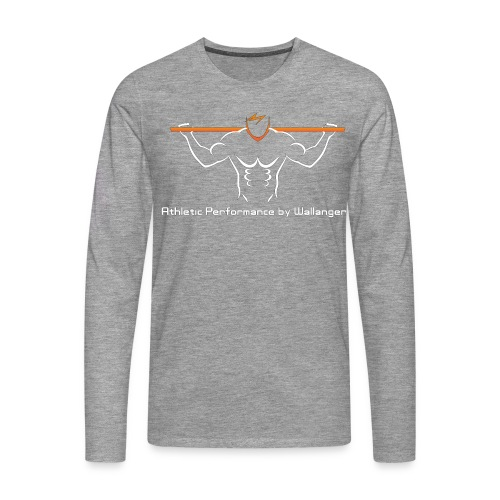 Långärmad T-Shirt - Vit logga - Långärmad premium-T-shirt herr