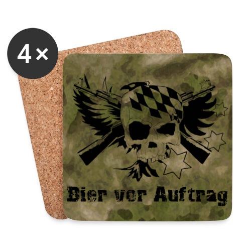 Untersetzer 4Pack , klassisch Logo, Bier vor Auftrag auf Atacs FG - Untersetzer (4er-Set)