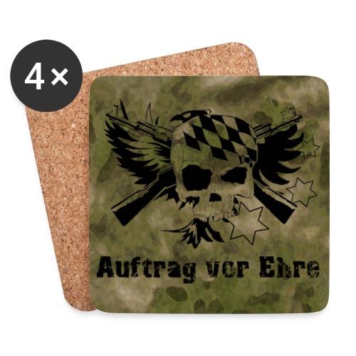 Untersetzer 4Pack , klassisch Logo, klassischer Spruch auf Atacs FG - Untersetzer (4er-Set)