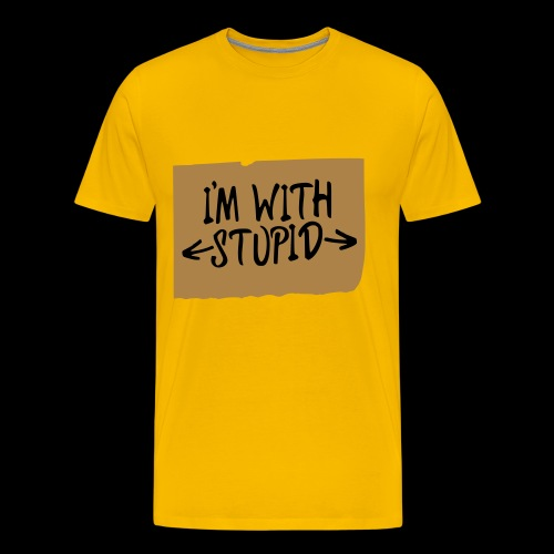 I'm with stupid - Männer Premium T-Shirt