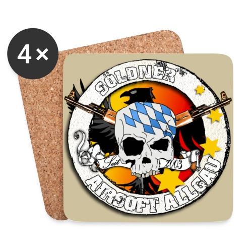 Untersetzer 4Pack , Logo bunt, Hintergrund Sand/Beige - Untersetzer (4er-Set)