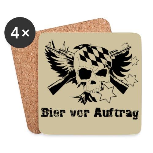 Untersetzer 4Pack , klassisch Logo, Bier vor Auftrag auf Sand/Beige - Untersetzer (4er-Set)