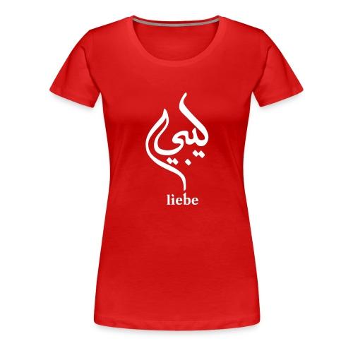 Liebe Arabic – Rot - Frauen Premium T-Shirt