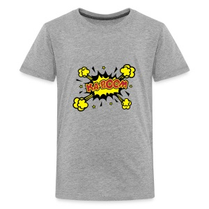 Teenage Premium T-Shirt - KABOOM Comic Book Style Design