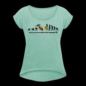 Evolution - Mädle - Frauen T-Shirt mit gerollten Ärmeln