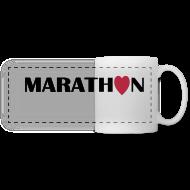 Tassen & Zubehör ~ Panoramatasse ~ Coffee Mug: I love running Marathon