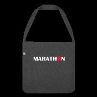 Taschen & Rucksäcke ~ Schultertasche aus Recycling-Material ~ Schultertasche: I love running Marathon