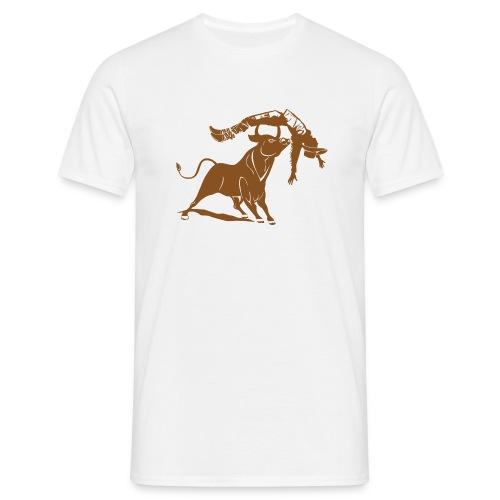 Bulle vs Cowboy - Männer T-Shirt