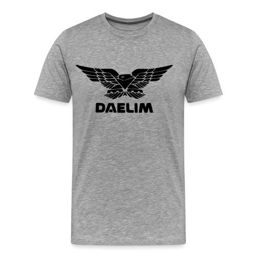 Daelim Vogel, schwarze Fläche, vorne groß - Männer Premium T-Shirt