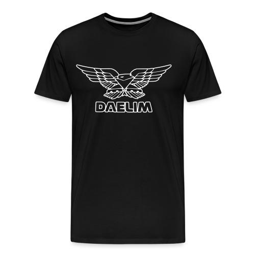 Daelim Vogel, weißer Umriss, vorne groß - Männer Premium T-Shirt