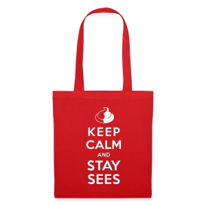 KEEP CALM AND STAY SEES Jutebeutel - Stoffbeutel